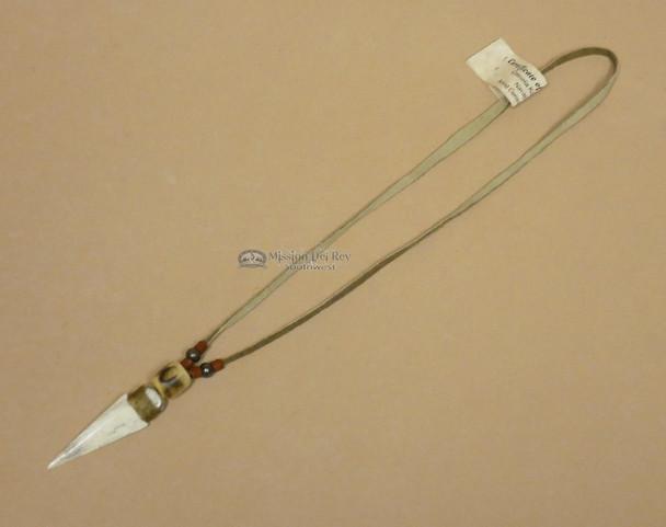 "Native American Bone Arrowhead Necklace 18"""