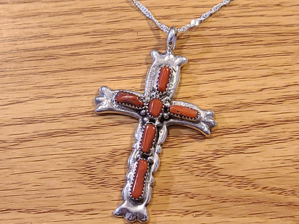 Native American Sterling Silver Cross