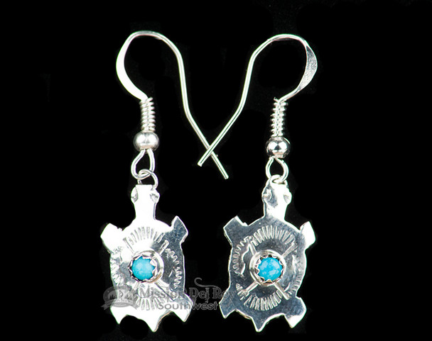 Native American Silver Earring Set -Zuni Turtles