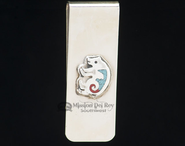 Zuni Indian Sterling Money Clip - Bear