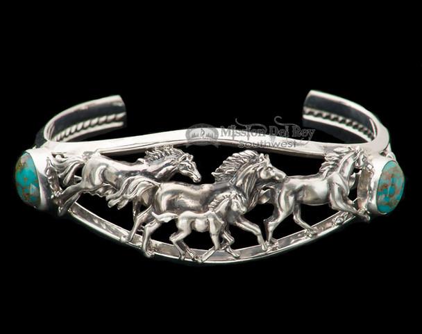 "Native American Silver Cuff Bracelet 5.5"" -Navajo"