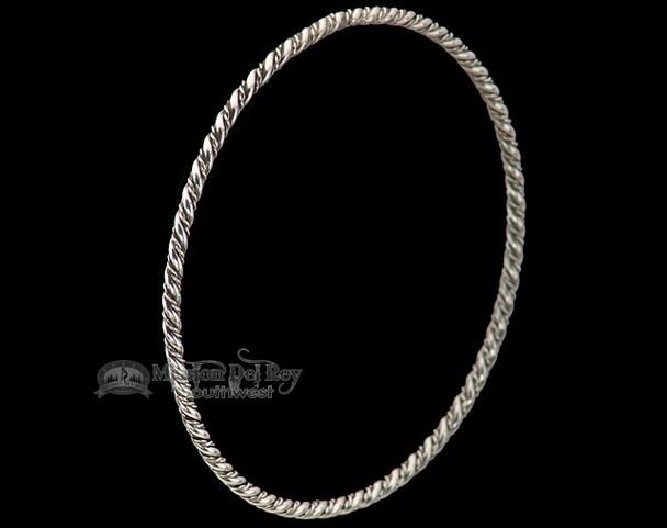 Native American Silver Bangle Bracelet -Navajo