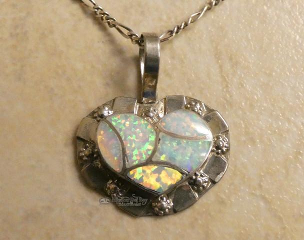 Native American Silver Pendant Necklace -Navajo