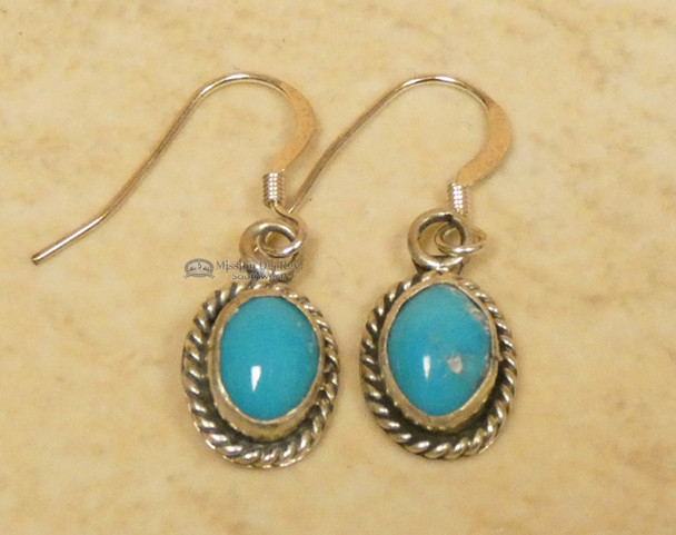 American Indian Navajo Silver & Turquoise Earrings