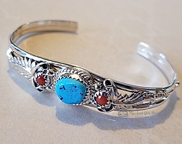 Traditional Sterling Silver Indian Cuff Bracelet