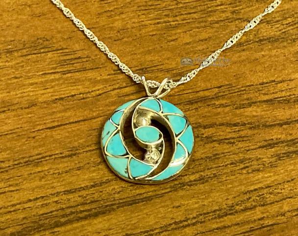 "Native American Silver Necklace 20"""
