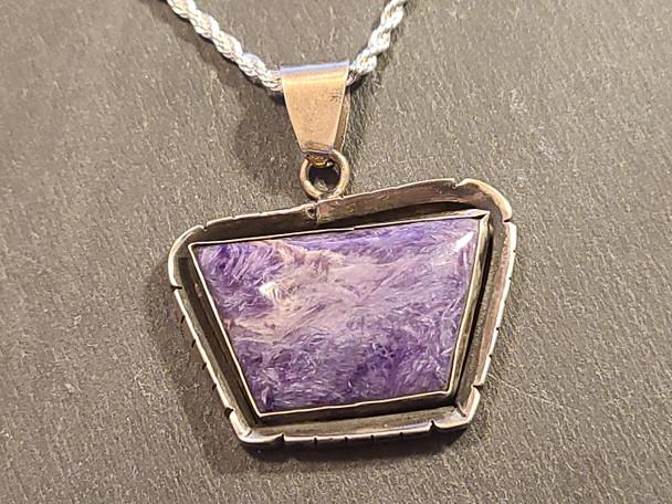 """Silver Pendant & Necklace 20"""" -Navajo"""