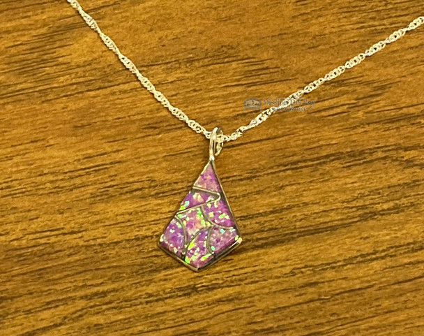 "Zuni Silver & Opal Necklace 20"""