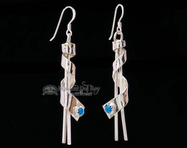 Native American Silver Earrings -Navajo