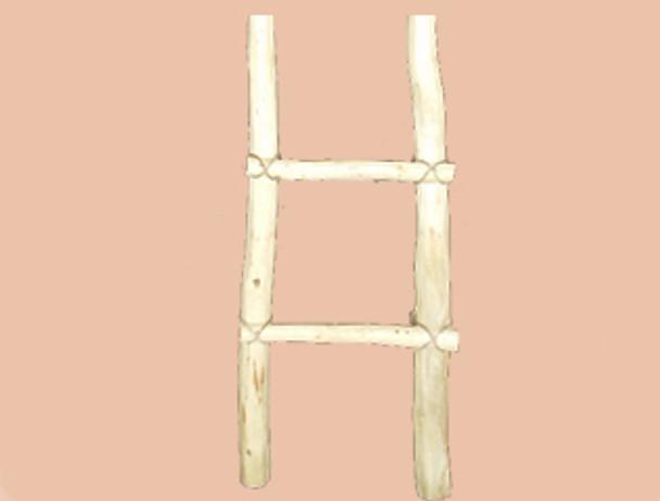 Wooden southwestern Kiva ladder. 3'