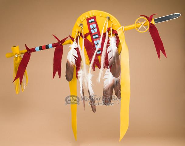 """Pueblo Indian Lance & Shield Set 42"""" -Tigua"""