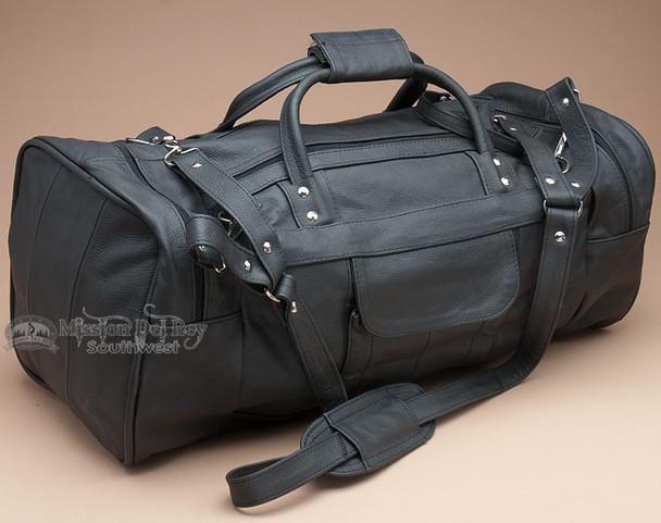 Rich Genuine Leather Duffle Travel Bag