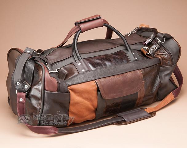 Multi-color Cowhide Travel Bag