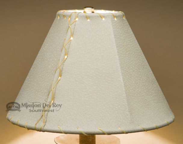 """Western Leather Lampshade - 10"""" Natural Pig Skin"""