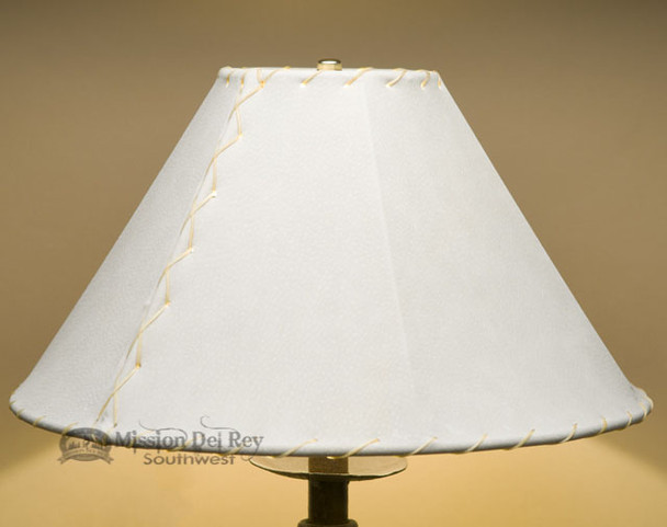 "Southwest Leather Lamp Shade - 16"" Natural Pig Skin"
