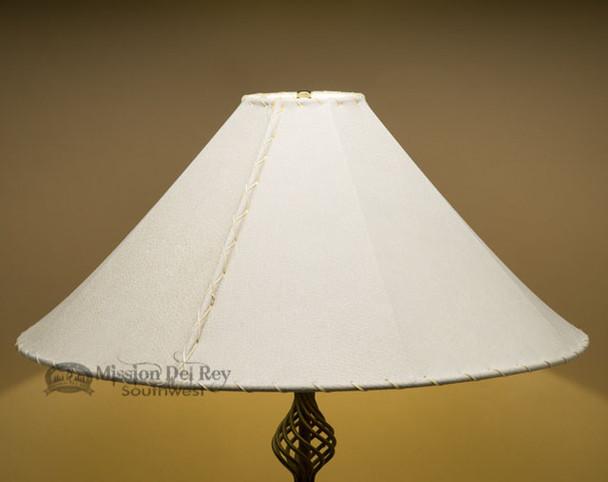 "Western Leather Floor Lamp Shade - 24"" Natural Pig Skin"
