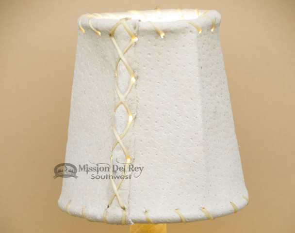 "4"" Natural Leather Chandelier Shade"