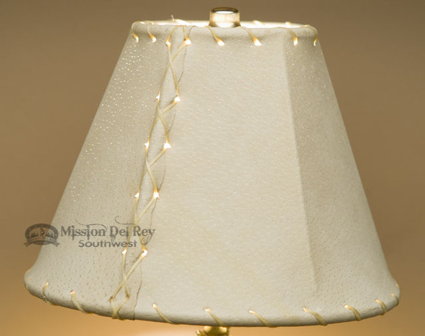 """Western Leather Lamp Shade - 8"""" Natural Pig Skin"""