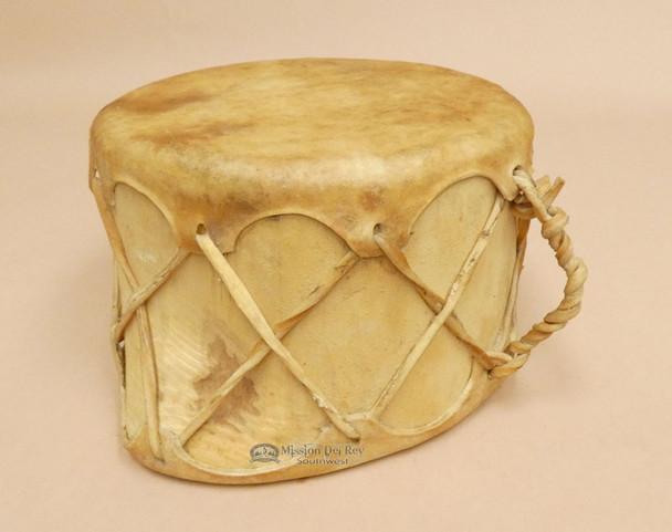 Rustic Rawhide Log Drum