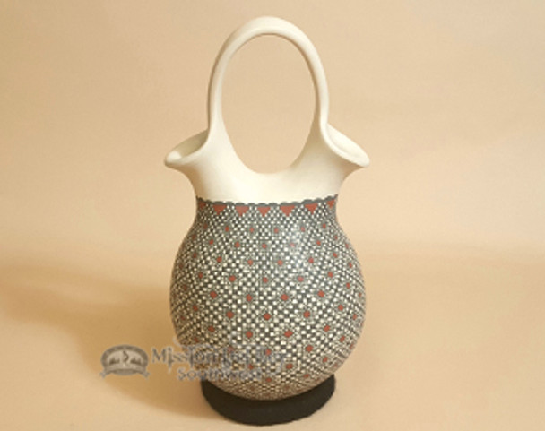 Hand Painted Mata Ortiz Pottery Wedding Vase