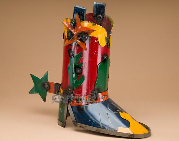 Southwestern rustic metal art - boot