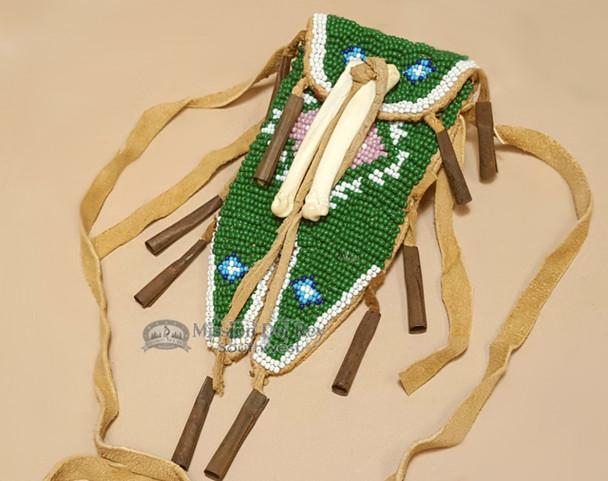 Vintage Native American Beaded Medicine Bag - Sioux