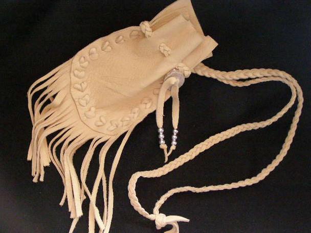 "Tigua Indian Medicine Pouch 5"" -Deer Hoof Stitch (42)"
