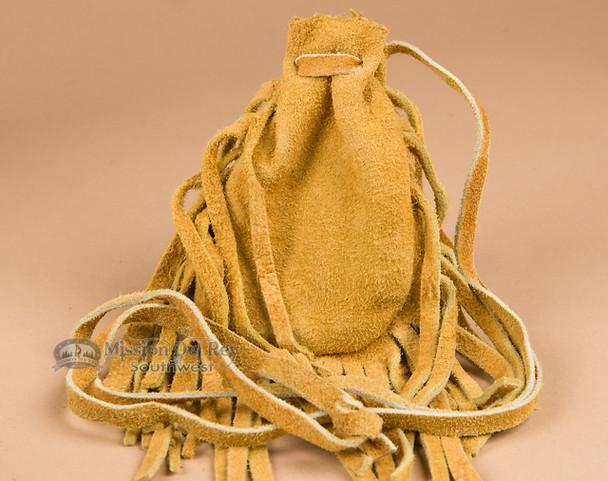 Native American deerskin medicine bag.