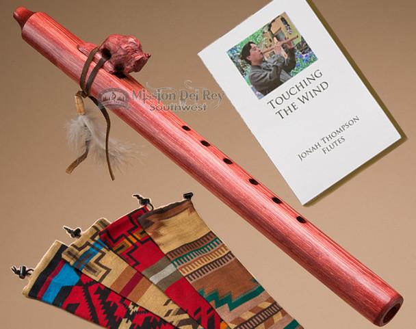 Native American Flute & Bag -Cherry Buffalo