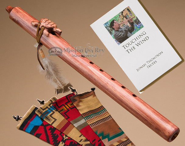 Native American flute with a walnut finish and turtle fetish.