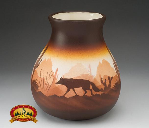 "Native American Navajo Pottery Vase 9"" -Southwest (v215)"
