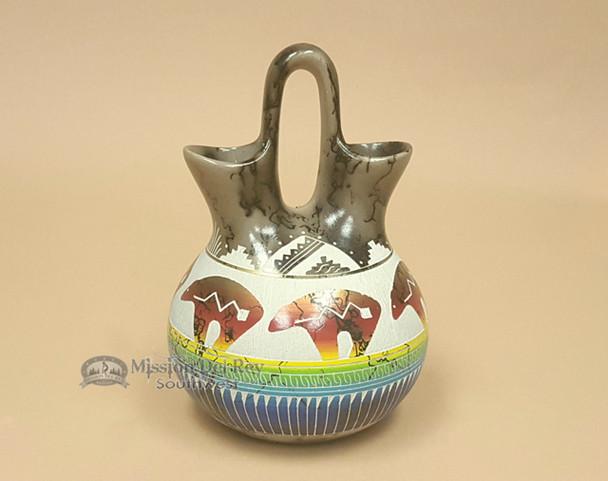 Bear Etched Wedding Vase -Navajo