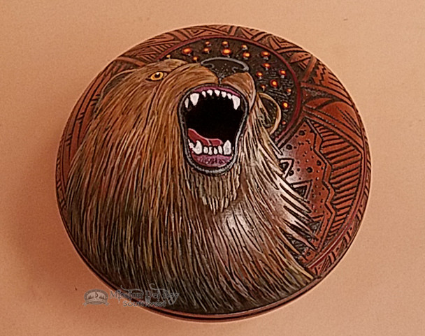 "American Indian Pottery Vase 6.5""x5"" -Bear"