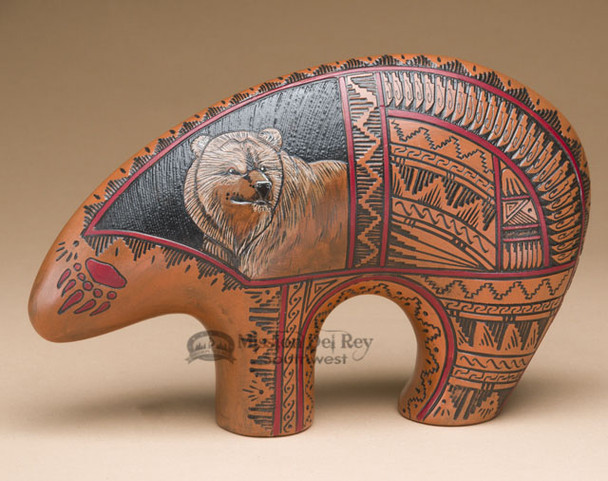 Navajo American Indian Pottery Bear