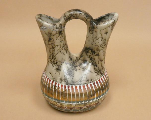 Horse Hair Wedding Vase - Etched