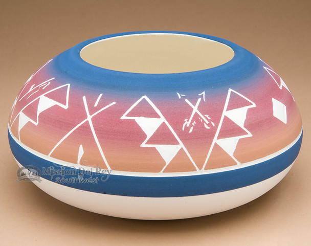 """Native American Indian Planter Vase 6"""" x 3"""" -Sioux (p614)"""