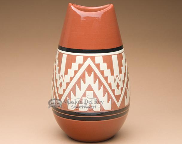 "Sioux Etched Bullet Vase 10"" -Lakota Earth (p635)"