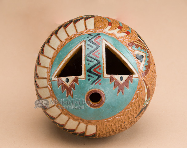 "Native American Pottery Vase 3.5"" -Hand Tooled (77)"