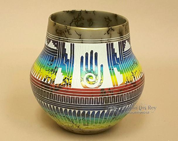 Navajo Horsehair Rainbow Etched - Healing Hand