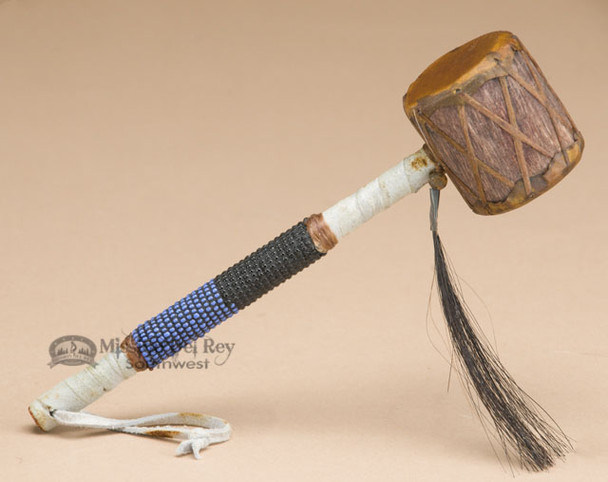 Native American Navajo Indian Drum Rattle 7""