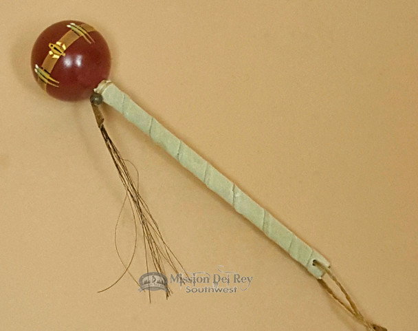 Red Navajo Ball Rattle