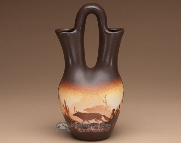 "Native American Navajo Wedding Vase 10"" -Southwest"