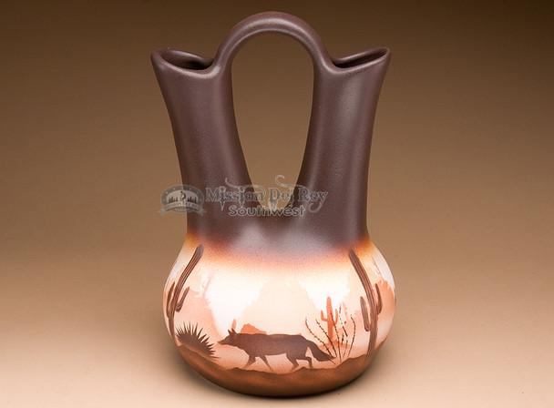Native American wedding vase pottery.