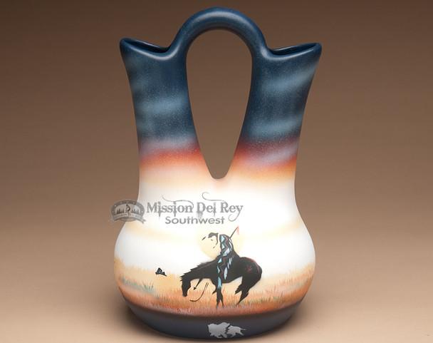 Native American End of Trail wedding vase.
