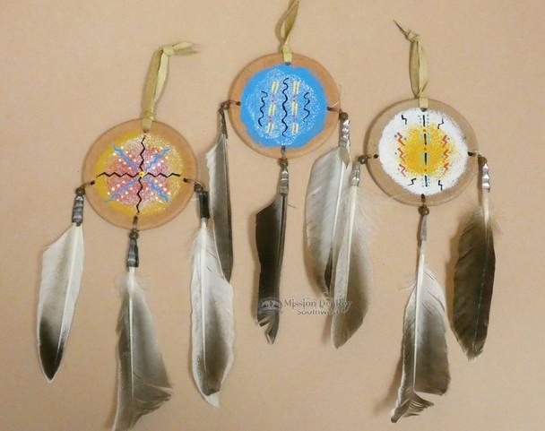 Hand Painted Mini Shield Ornament 3 Set -Navajo (o69)