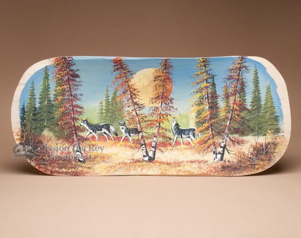 Hand Painted Wilderness Scene - Wolf Pack