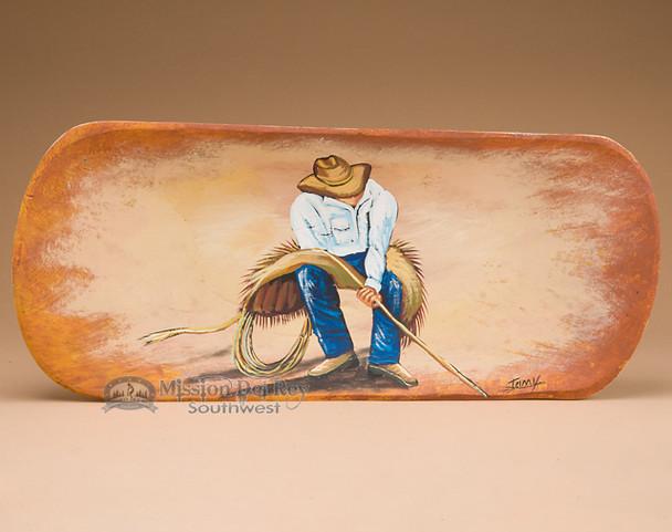 Western Painted Bowl - Cowboy Roper