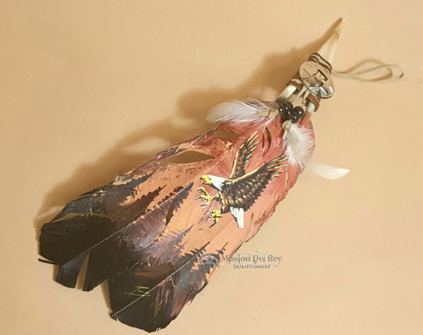 Native Style Painted Feathers -Eagle Dawn