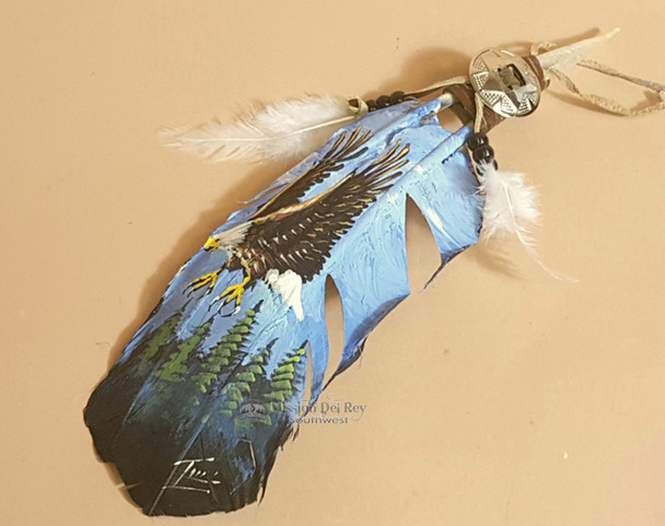 Native American Style Painted Feathers -Eagle