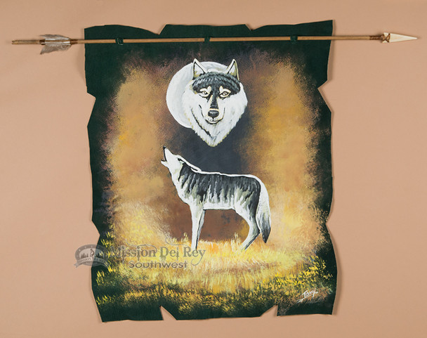 Indian Arrow Wall Hanging - Wolf
